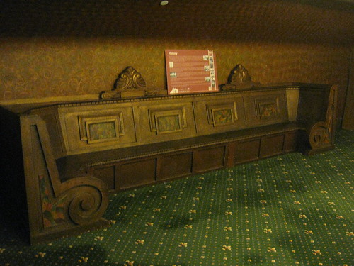 Art Deco Bench on the First Floor Foyer of the Palais Theatre – Lower Esplanade, St Kilda