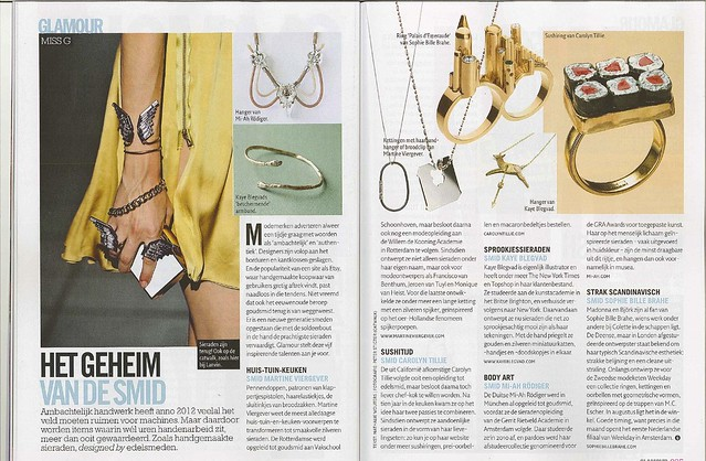 datter in Dutch Glamour magazine