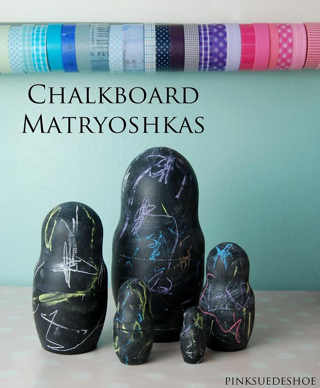 chalkboard matryoshkas