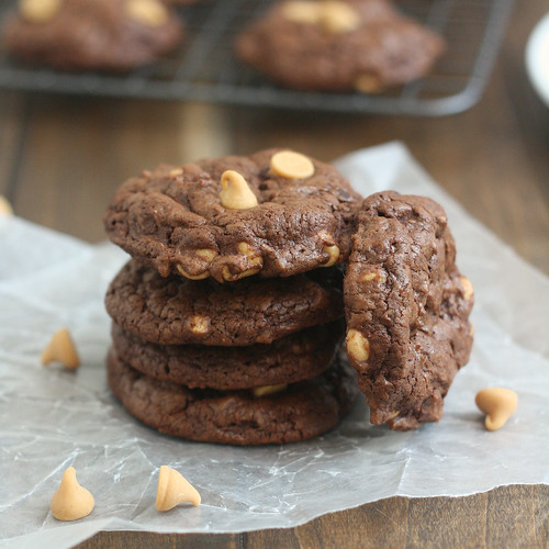 Double-Chocolate Peanut Butter Cookies