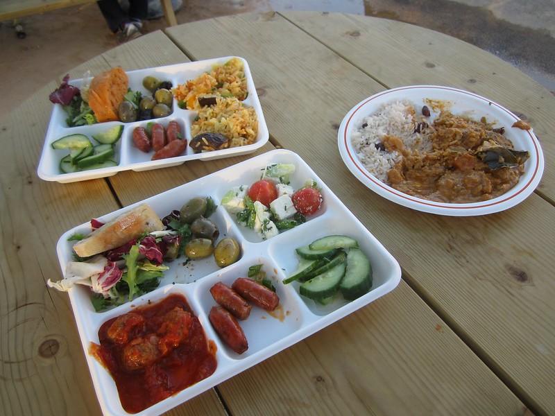 Spanish tapas and non-vegetarian vegetarian curry