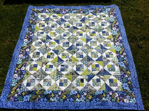Blue Pool Quilt Top by CoraQuilts ~ MrsCarla