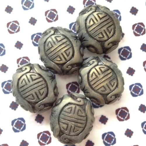 oriental wood beads
