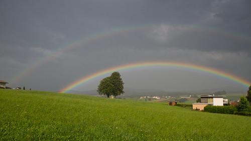 Doppelregenbogen Münzkirchen