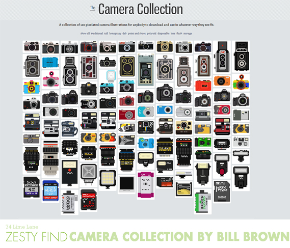 {zesty find} the camera collection by bill brown