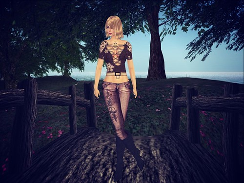 ! Glitterati by Sapphire ! ~ Well Loved Skinny Jeans - Ivy - Eggplant, 75 l by Cherokeeh Asteria