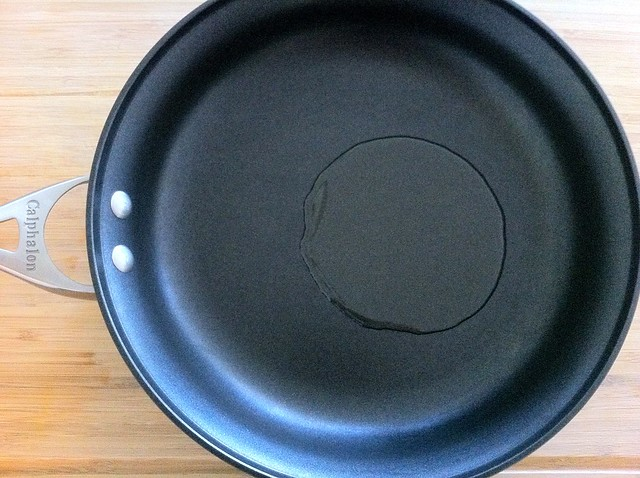 Olive Oil in Large Saute Pan