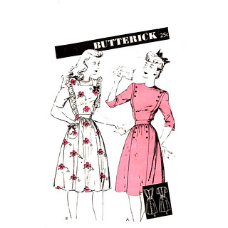 Butterick 2831 40s dress