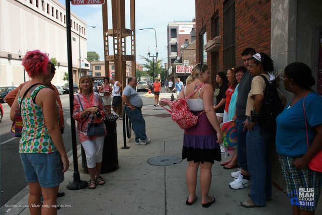 Fans gathering outside the Briar Street Theatre for the morning activities and events.