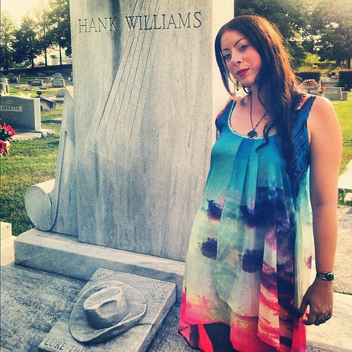 Today we made a pilgrimage to Hank Williams' gravesite in Montgomery, Alabama