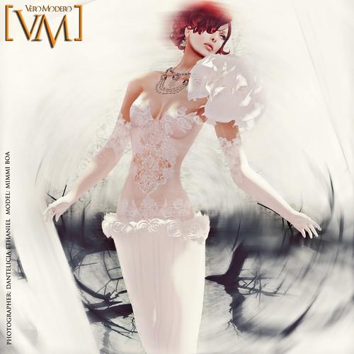 [VM] VERO MODERO AYLO OWL DRESS WHITE