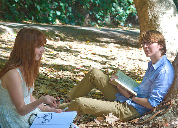 Zoe Kazan and Paul Dano manifest the contemplation of existence in RUBY SPARKS.