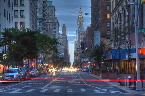 Chrysler Building from Gramercy Park at dusk 2