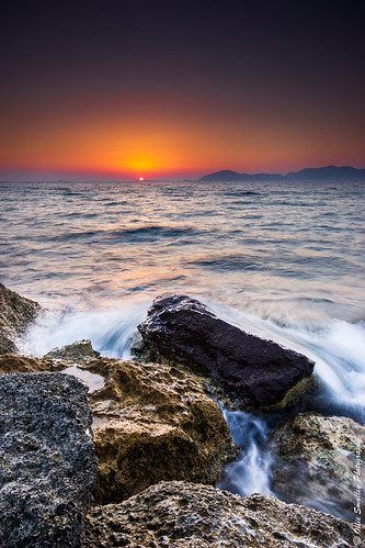blue light sunset portrait orange sun seascape black detail contrast canon dark rocks long exposure view horizon small hard large deep rocky sigma kos sharp greece le 09 manmade 1020mm hitech foreground 2012 distant slowexposure sharpness gnd 550d t2i olliesmalleyphotography hitech3stopsolidnd