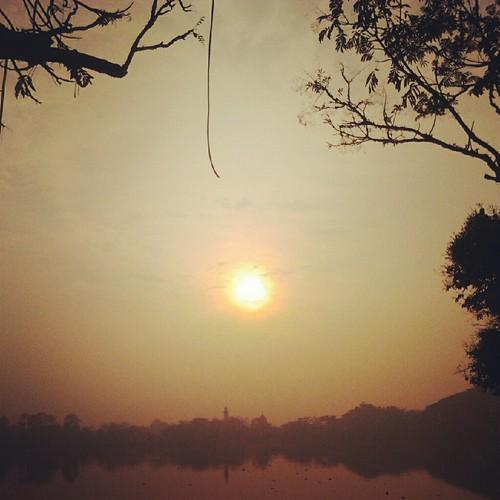 sun sunrise rajalake