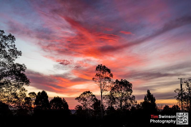 Picnic Point Toowoomba Sunset 08-08-12