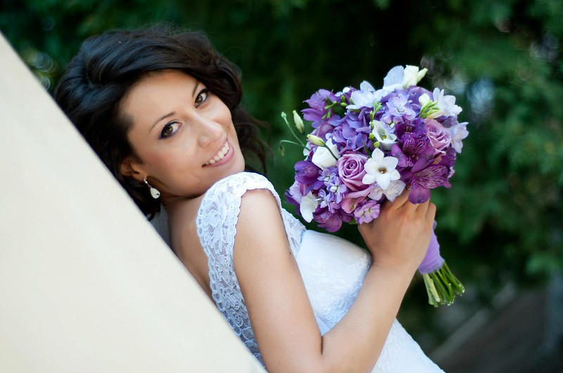 purple & lavender bride bouquet - buchet mireasa mov - lila