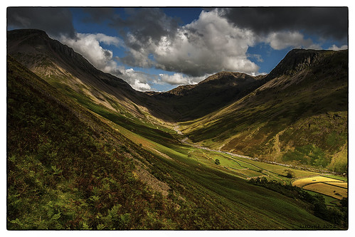 Valley of Lingmell Beck, Lake District National Parc, England