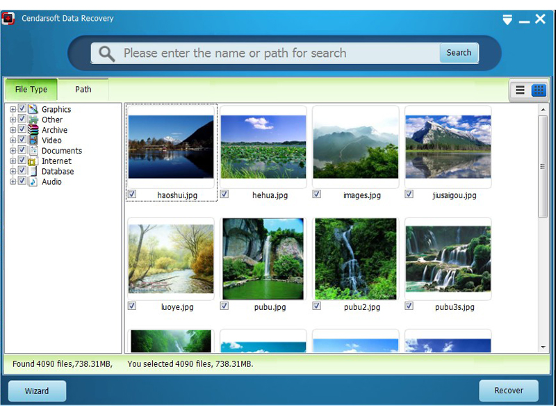 Click to view Cendarsoft Data Recovery 1.0.0 screenshot