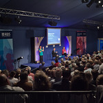 Michael Palin talks to a full house | Michael Palin has the audience enthralled