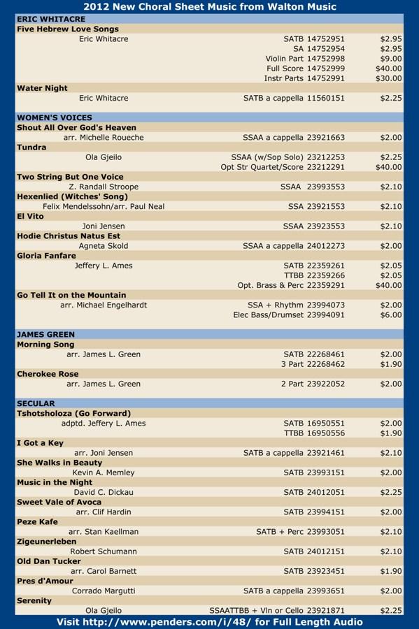 Walton 2012 Choral Sheet Music Promo Pg 2