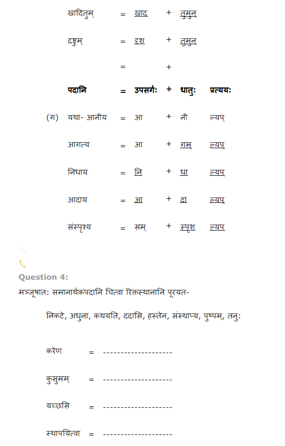 NCERT Solutions for Class 8th Sanskrit