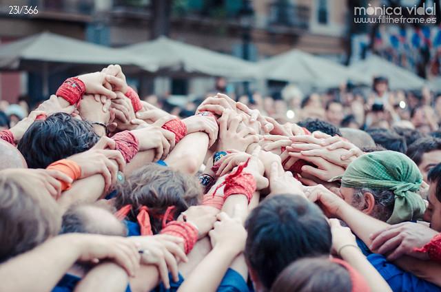 231/366. Barcelona, 20:38. La unió fa la força.