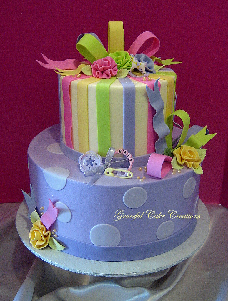 pastel baby shower cake a photo on flickriver