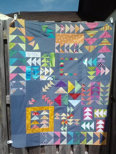 flying geese bee quilt