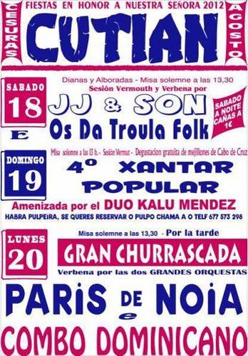 Cesuras 2012 - Festas da Nosa Señora en Cutián - cartel
