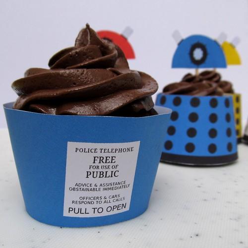 Tardis Cupcake