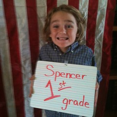 Welcome to 1st grade Spencer! #homeschool #hsmommas