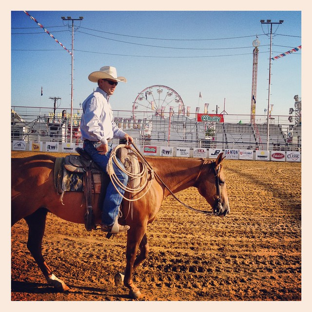 Cowboy Horse Rodeo Arena North Texas State Fair Denton Img