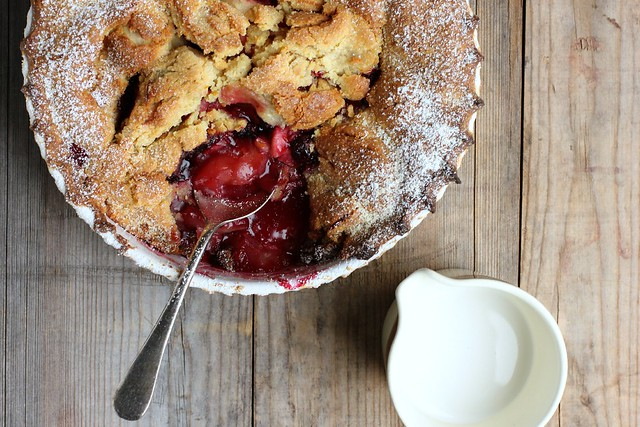 gluten-free apple berry pandowdy