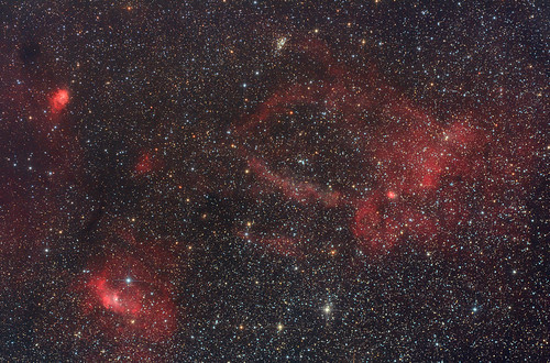 Bubble Nebula and Sh2-157