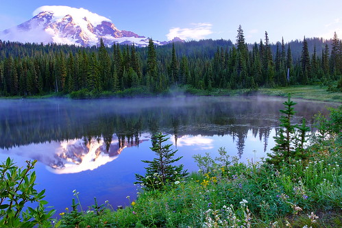 Morning Fog, Mt. Rainier's Reflection Lake