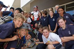 Mark with Dongara students