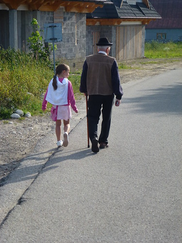 Walking to the church