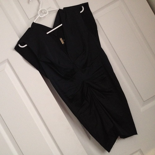 Rozae Nichols navy silk tunic top from tag sale in Woodbury