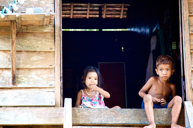 Kids are watching the house while parents work in the rice fields