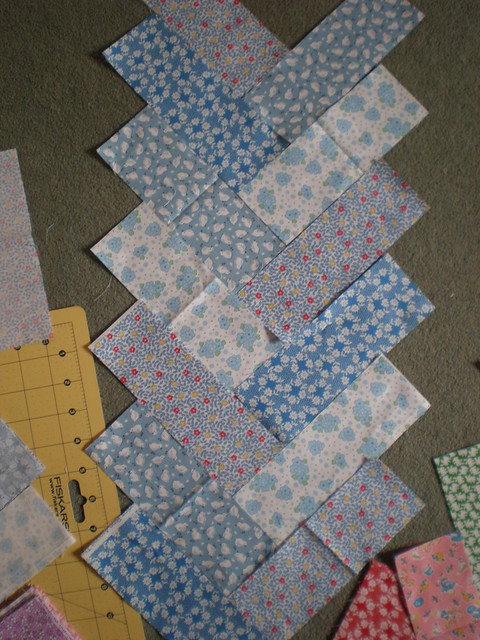 Blue Patchwork Layout