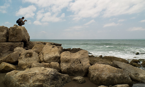 Espigón del puerto romano de Antioquia