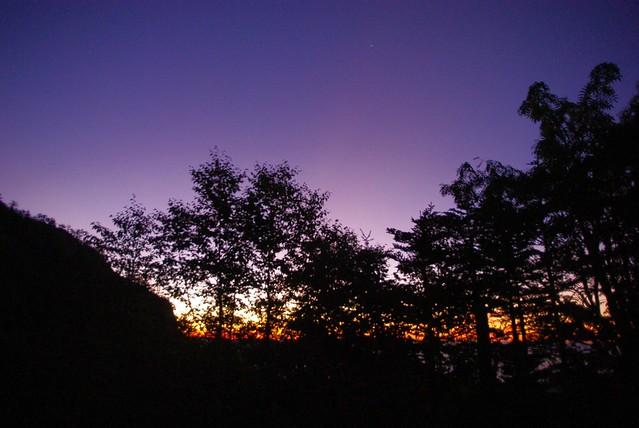 地蔵岳の日の出