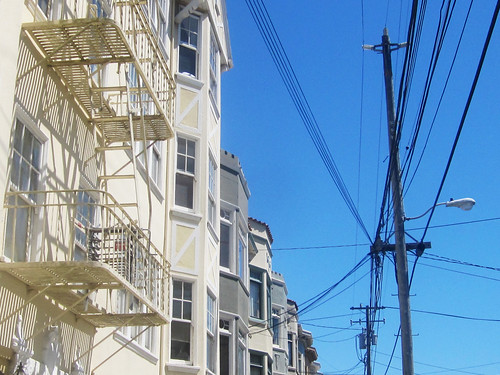 Residential Buildings and Telephone Wires
