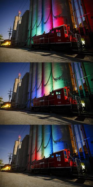 RGB Grain Elevators Triptych
