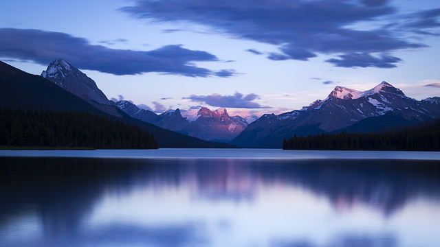 Maligne Lake Sunset small