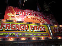 Signs On The Philly Cheese Steak Factory Trailer.