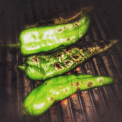 #hatchpeppers on the #grill #anticipation #seasonalfood