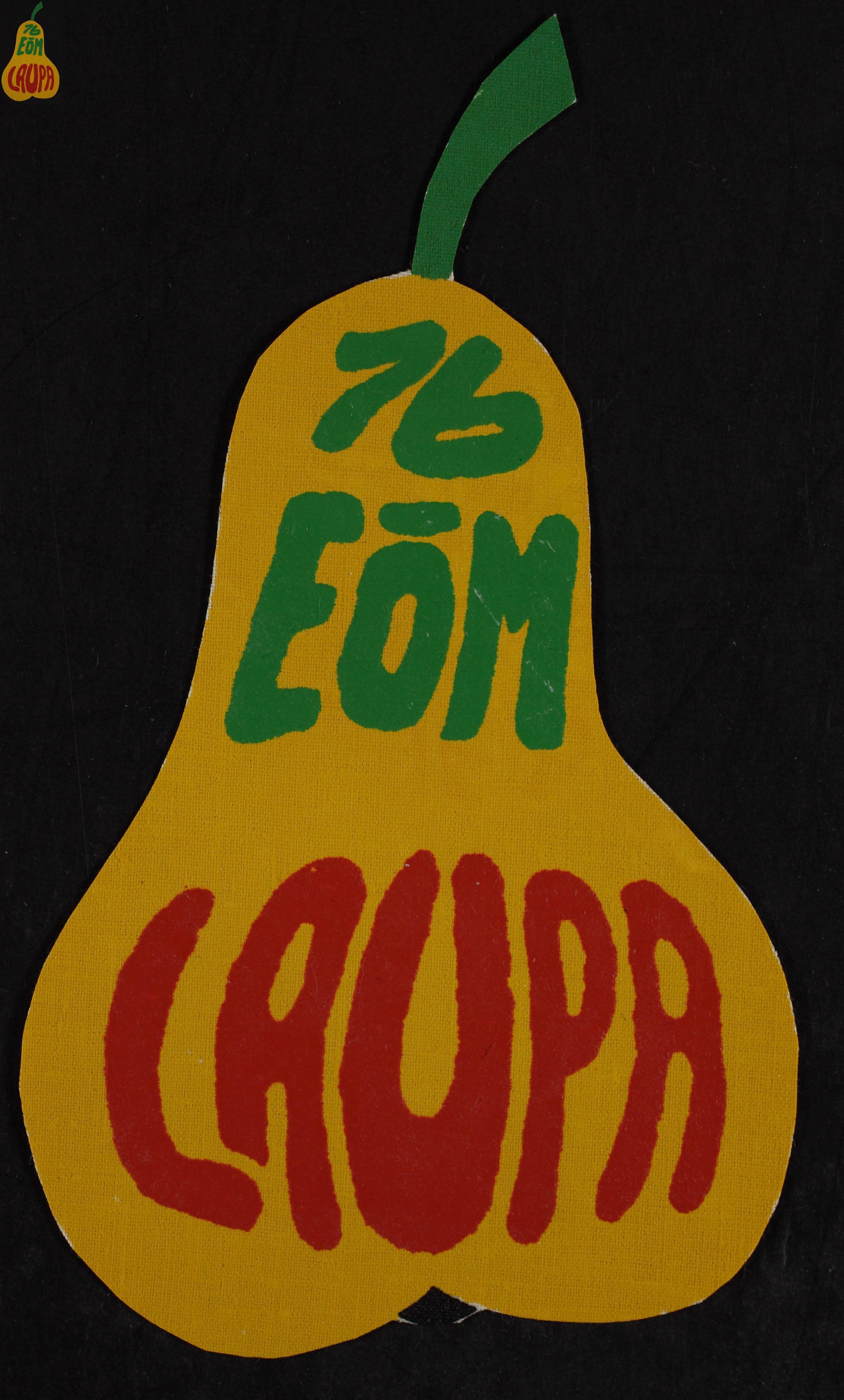 Maleva embleem, Laupa 1976/ Secondary School Students' Building Brigade emblem, Laupa 1976