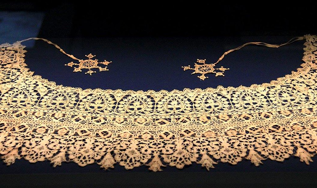 Today Brugge lace is under threat from the machine made cheap lace from Asia